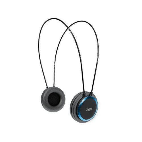 CRYPTO HEADPHONE [HP-100 Black/Blue] On-Ear Close