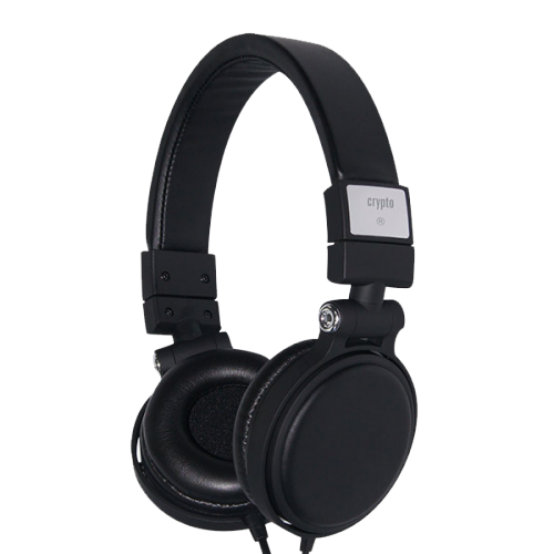 CRYPTO HEADPHONE [HP-200 Black] On-Ear Close