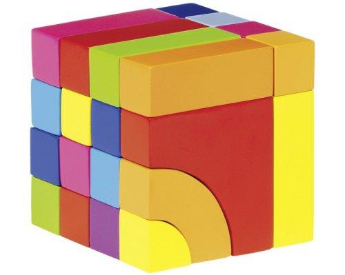 Ξύλινα τουβλάκια κύβος ,σε τσάνταGoki Κωδ 58660