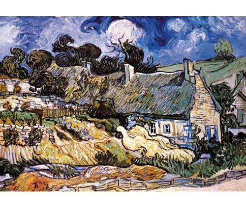 Van Gogh Thatched Cottages at Cordeville  Ricordi 1000pz