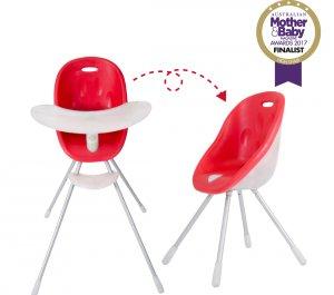 Καρεκλάκι φαγητού - παιδικό κάθισμα Poppy Cranberry phil&teds