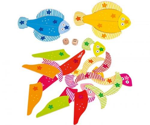 Παιχνίδι με ζάρια Funky fish, Peggy Diggledey Goki 56832