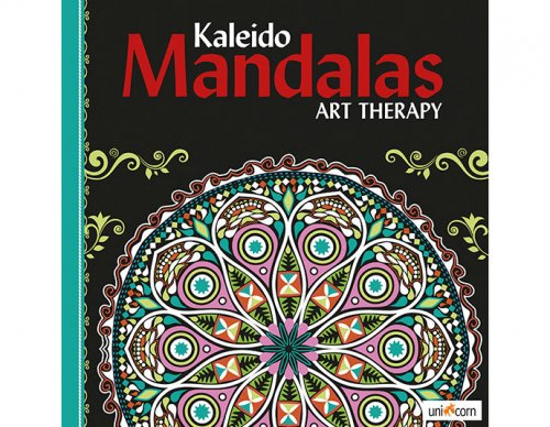 Kaleido Mandalas Art Therapy BLACK  UNICORN 9835799