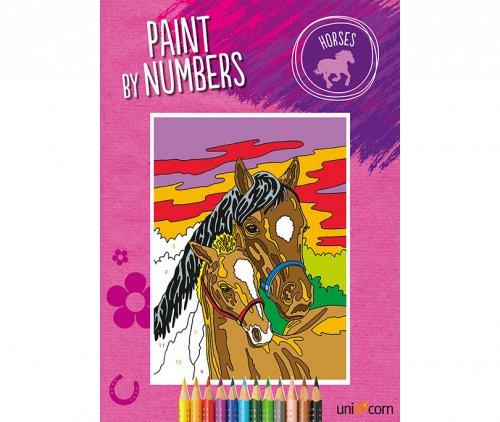 Ζωγραφική με αριθμούς Άλογα UNICORN 6000178