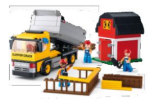 Φορτηγό και σπιτάκι Sluban  M38-B0552