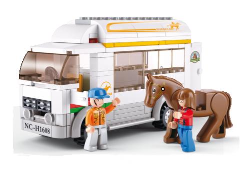 Όχημα με τρέιλερ μεταφοράς αλόγων Sluban M38-B0559