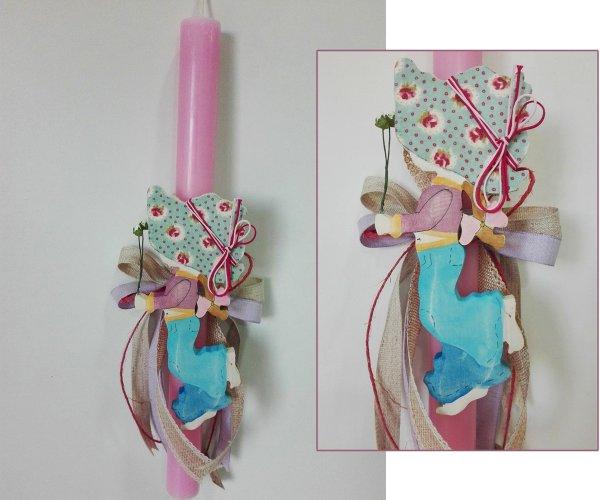 Οικολογική Λαμπάδα (ροζ) Sarah Kay 012