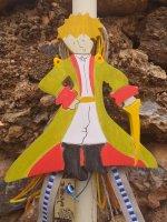 Οικολογική Λαμπάδα Ξύλινος Πράσινος Μικρός Πρίγκιπας 015