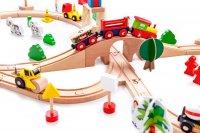 Σιδηρόδρομος με 75 τεμάχια Ecotoys 45482