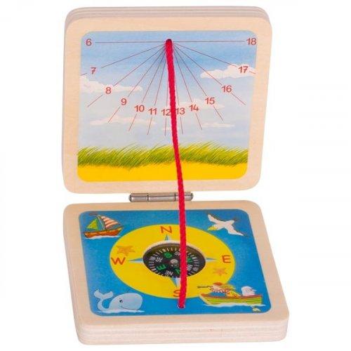 Ηλιακό Ρολόι και Πυξίδα Goki 63909