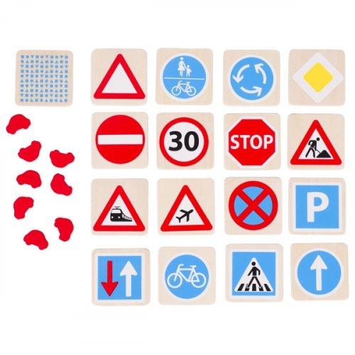 Μέμο και Επιτραπέζιο παιχνίδι «Τα Σήματα κυκλοφορίας» Goki 56838