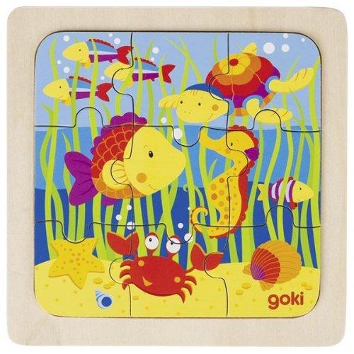 Παζλ η Θάλασσα 9 τεμάχια Goki 57499