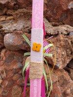 Λαμπάδα με Ξύλινη Σφυρίχτρα Πουλάκι 8000