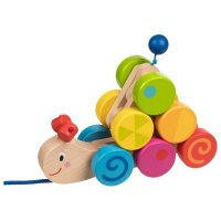 Ξύλινο Συρόμενο «Caterpillar» Goki 54899