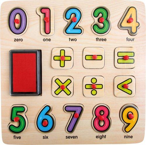 Μαθαίνω αριθμητική με στάμπες Small Foot 10078
