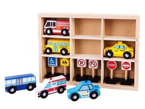 Σήματα κυκλοφορίας + 6 Αυτοκινητάκια Ecotoys 18166