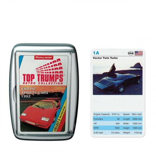Κάρτες Retro Cars Top Trumps 2189