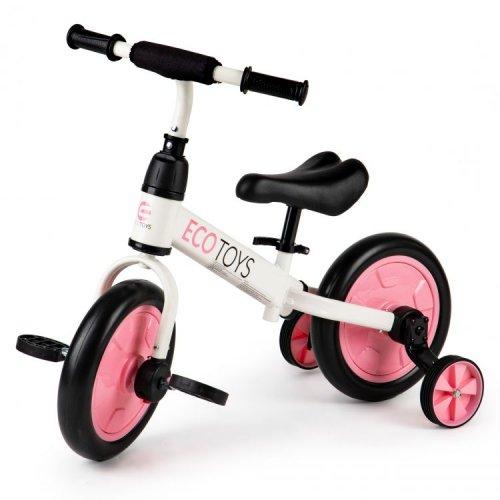 Ποδήλατο Ισορροπίας + πεντάλ 3in1 Ecotoys 1312PINK