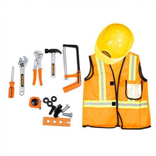 Σετ εργαλείων με γιλέκο και κρανος Ecotoys 487158