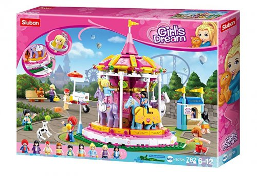 Τουβλάκια GIRLS DREAM - CAROUSEL Sluban M38-B0725