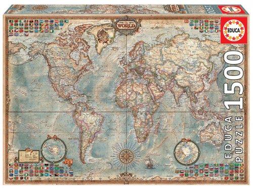 Παζλ Map of The World Educa 16005
