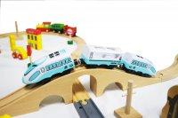 Σιδηρόδρομος με μπαταρία και 69 τεμ. Ecotoys 15147