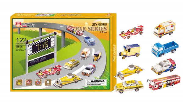 3D παζλ Αυτοκίνητα σετ των 8 Small Foot 8929
