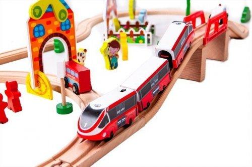 Σιδηρόδρομος με μπαταρία και 53 τεμ. Ecotoys 180995
