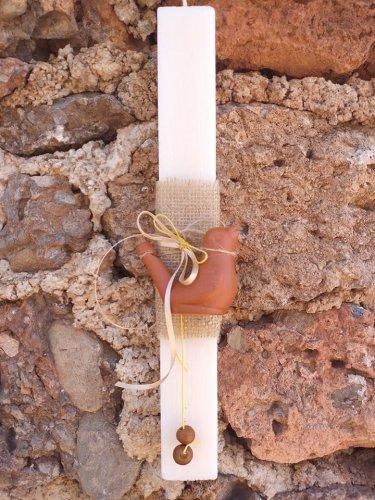Αρωματική Λαμπάδα με Πήλινη Λαλίτσα 8027