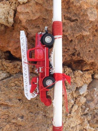 Αρωματική Λαμπάδα με Πυροσβεστικό όχημα 8033