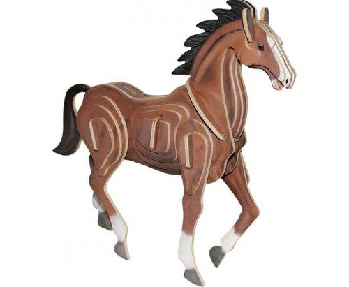 Ξύλινο 3D Puzzle Άλογο Small foot Κωδ. 1438