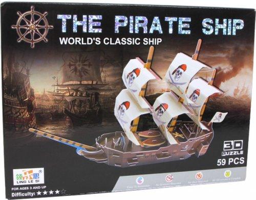 3D Puzzle Πειρατικό Καράβι Small foot Κωδ. 9594