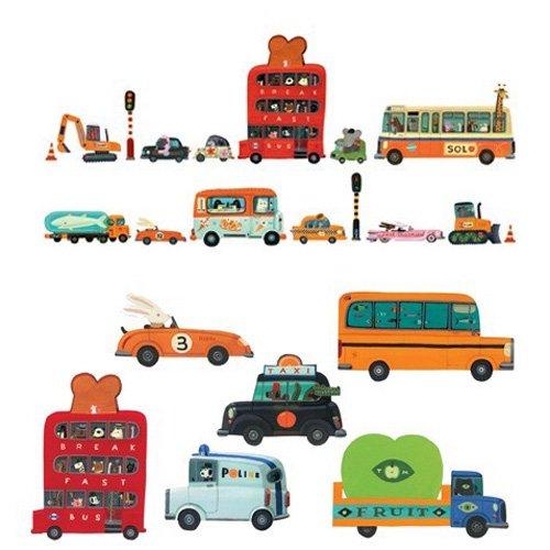 Djeco διακόσμηση τοίχου οχήματα Κωδ 04512