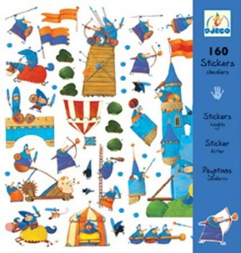 Djeco σετ 160 στίκερ οι ιππότες Κωδ.8831