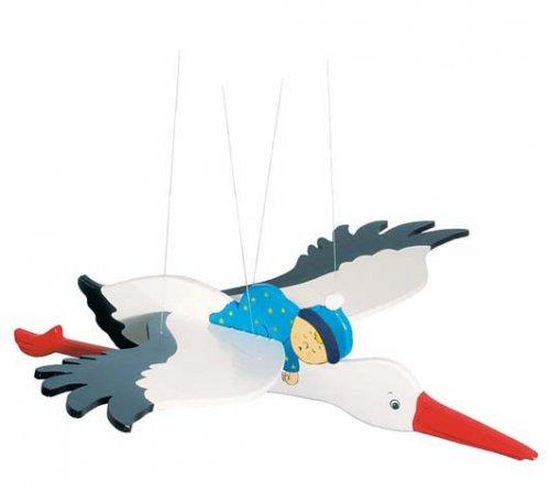 Mobile Πελαργός με Γαλάζιο Μωρό Goki 52991