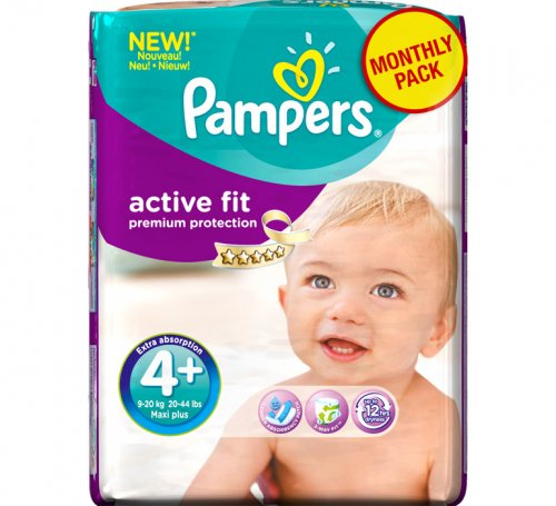 Pampers Active Fit Maxi Plus Monthly Box 140 τεμ πάνες
