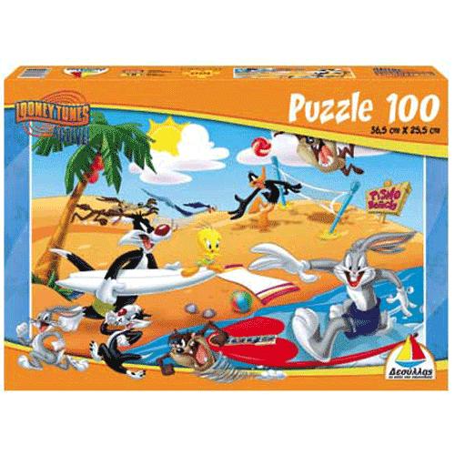 Puzzle  100 Looney Tunes Παραλία - Κωδ.Π605