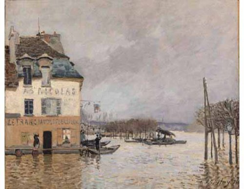 Sisley Le barque pendant l'inondation a Port - Marly 2000 τεμ. -