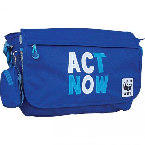 Τσάντα ώμου WWF Κωδ. 04108-blue