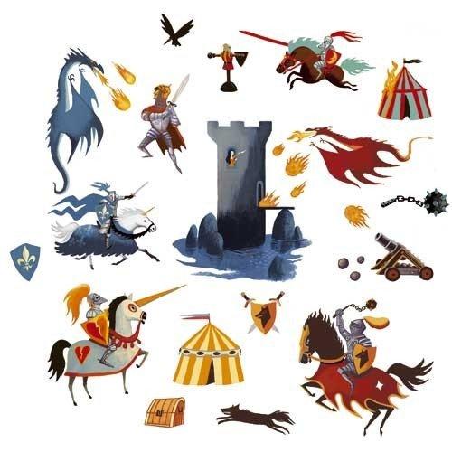 Διακόσμηση τοίχου Ιππότες και Δράκοι Djeco κωδ.04571