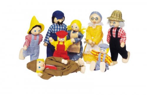 Κουκλοοικογένεια 8 μελών Goki SO305