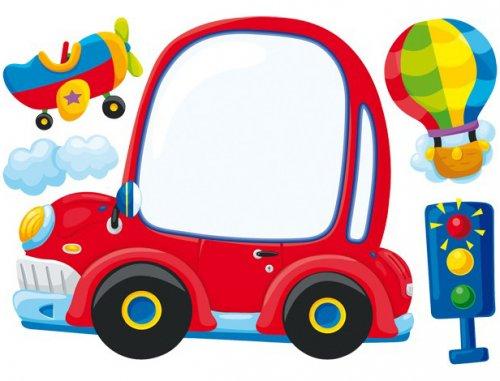Αυτοκόλλητο τοίχου - πίνακας Αυτοκινητάκι Legler Κωδ. 2623