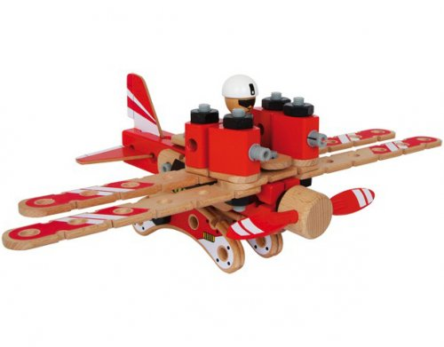 Ξύλινο Σετ κατασκευής 2 σε 1 Αεροπλάνο-Ελικόπτερο Small Foot 854