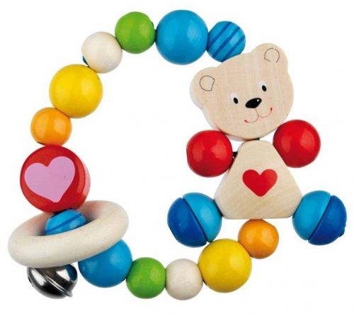 Κουδουνίστρα Αρκουδάκι με Καρδιά Goki Κωδ:763810