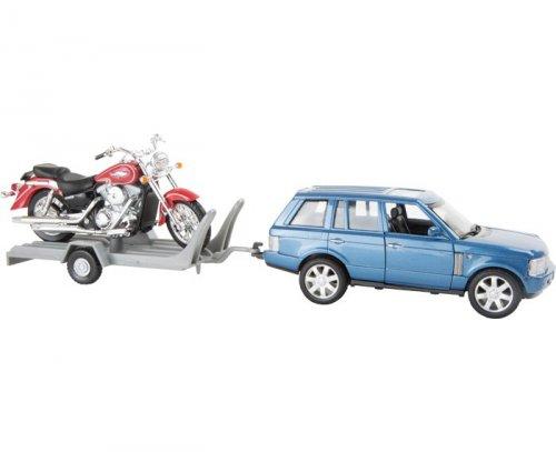 Αυτοκίνητο & Μηχανή σε Τρέιλερ Legler Κωδ 8585