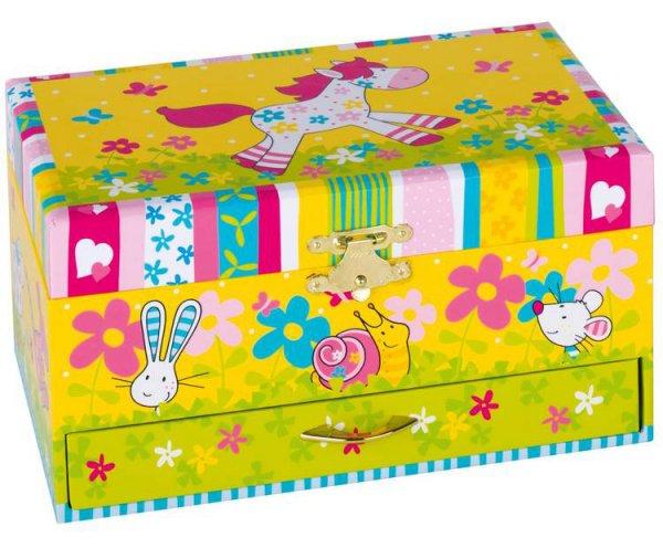 Μουσικό κουτί-μπιζουτιέρα με συρτάρι